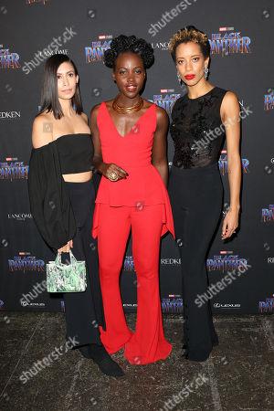 Michelle Ochs, Lupita Nyong'o and Carly Cushnie