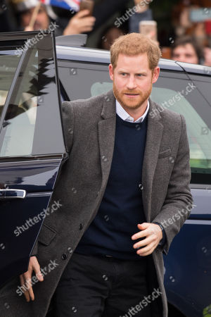 Prince Harry during the visit to Edinburgh Castle