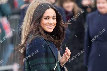 Meghan Markle during the visit to Edinburgh Castle