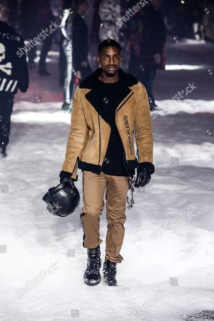 Stock Picture of Mekhi Alante Lucky on the catwalk
