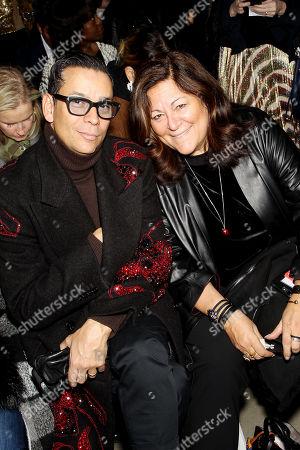Editorial image of Badgley Mischka New York Fashion Week Fall- Winter 2018 - Front Row, New York, USA - 13 Feb 2018