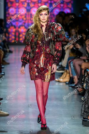 Stock Picture of Gigi Hadid on the catwalk