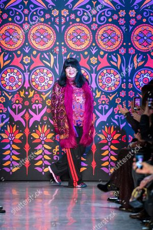 Anna Sui on the catwalk