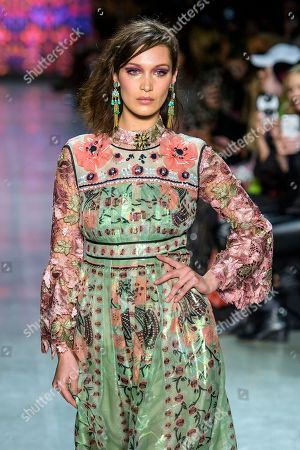 Editorial picture of Anna Sui show, Runway, Fall Winter 2018, New York Fashion Week, USA - 12 Feb 2018