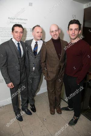 Ben Batt (George), Peter McKintosh (Designer), Robert Hastie (Director) and Jonathan Bailey (John)