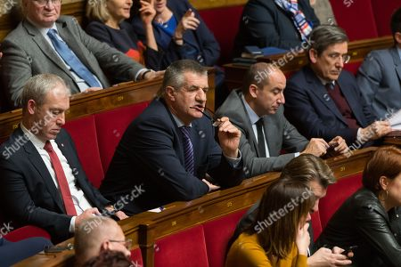 Stock Image of Jean Lassalle during the weekly session of questions to the government at the National Assembly.