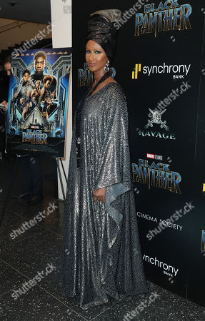Editorial image of 'Black Panther' film premiere, Arrivals, New York, USA - 13 Feb 2018