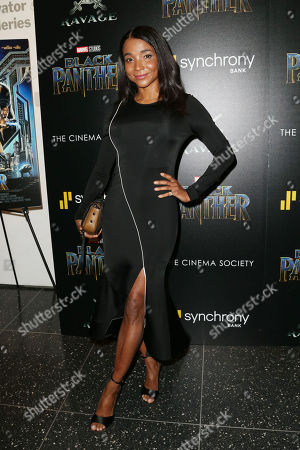 Editorial picture of The Cinema Society with Ravage Wines and Synchrony host a screening of Marvel Studios' 'Black Panther', New York, USA - 13 Feb 2018
