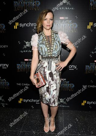 """Emily Bergl attends a special screening of """"Black Panther"""" at the Museum of Modern Art, in New York"""