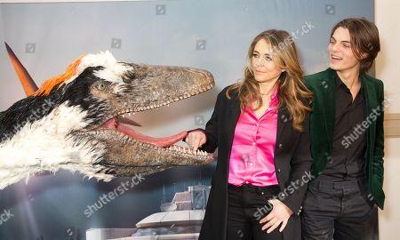 Elizabeth Hurley and Damian Hurley