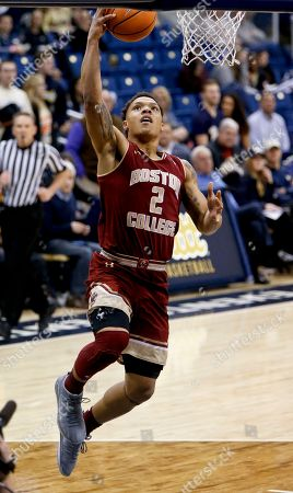 Stock Picture of Boston College's Avery Wilson (2) plays against Pittsburgh during an NCAA college basketball game, in Pittsburgh