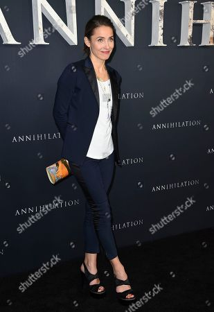 "Tuva Novotny arrives at the Los Angeles premiere of ""Annihilation"" at the Regency Village Theatre on"