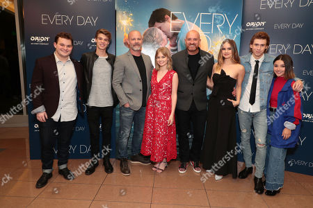 Stock Picture of Jake Sim, Colin Ford, Michael Cram, Angourie Rice, Director Michael Sucsy, Debby Ryan, Owen Teague and Amanda Arcuri