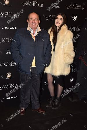 Giancarlo Magalli with his daughter Michela Magalli