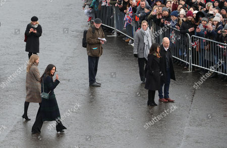 Meghan Markle during a walkabout on the esplanade at Edinburgh Castle, during a visit to Scotland.