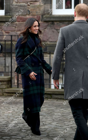 Prince Harry and Meghan Markle at Edinburgh Castle, during a visit to Scotland.