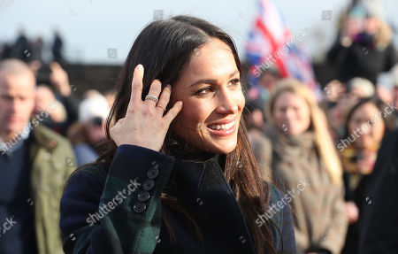 Meghan Markle at Edinburgh Castle, during a visit to Scotland.