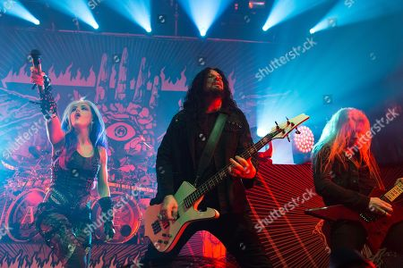 Editorial image of Arch Enemy in concert at O2 Ritz, Manchester, UK - 13 Feb 2018