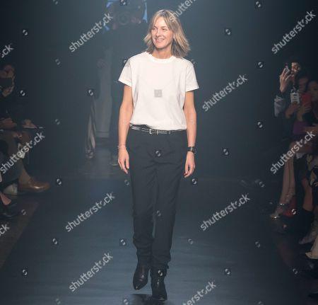 Designer Cecilia Bonstrom on the catwalk