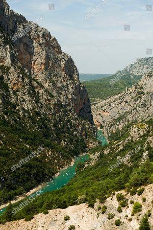 Verdon Gorge, Gorges du Verdon, Verdon Regional Natural Park, Provence, Provence-Alpes-Cote-d' Azur, Southern France, France