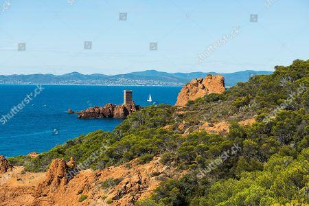 Cap du Dramont, Massif de l' Esterel, Esterel Mountains, Departement Var, Region Provence-Alpes-Cote d' Azur, France