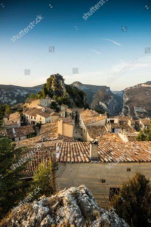 Rougon, Verdon Gorge, Gorges du Verdon, also Grand Canyon du Verdon, Department of Alpes-de-Haute-Provence, Provence-Alpes-Cote d' Azur, France