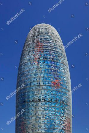 Torre Agbar, architect Jean Nouvel, Placa de les Glories Catalanes, Barcelona, Catalonia, Spain