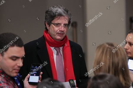 United Nations, New York, USA, February 13 2018 - Amb. Francois Delattre of France During a Security Council meeting on the situation in Myanmar today at the UN Headquarters in New York.