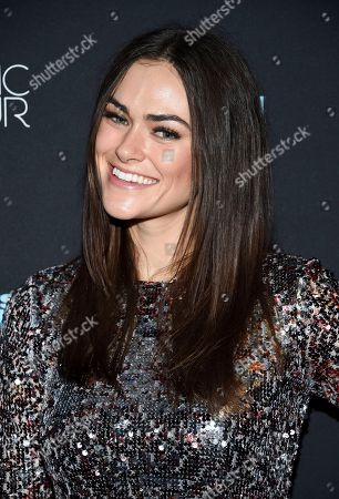 Myla Dalbesio attends the 2018 Sports Illustrated Swimsuit Issue launch party at Magic Hour at Moxy NYC Times Square, in New York