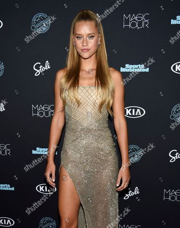 Chase Carter attends the 2018 Sports Illustrated Swimsuit Issue launch party at Magic Hour at Moxy NYC Times Square, in New York