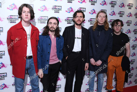 Charlie Salt, Tom Ogden, Josh Dewhurst, Joe Donovan and Myles Kellock of The Blossoms