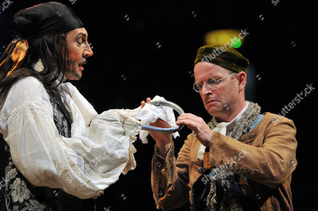 Jonathan Hyde as Captain Hook and Ian Hughes as Smee