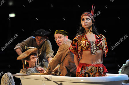 Ian Hughes as Smee and Amber Rose Revah as Tigerlily