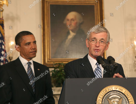 US President Barack Obama and US Representative John M. McHugh