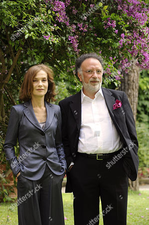 Isabelle Huppert and Director Alessandro Capone
