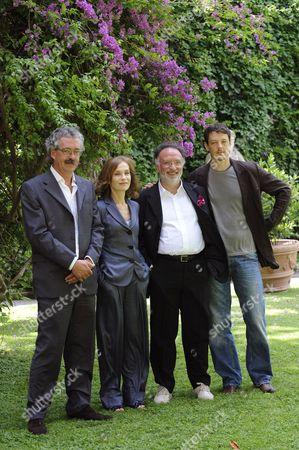 Producer Massimo Cristaldi, Isabelle Huppert, Director Alessandro Capone and Giorgio Lupano