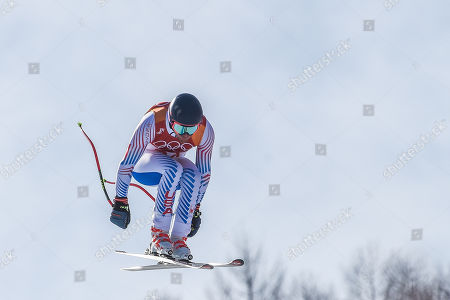 Wiley Maple of United States competing in mens downhill at Jeongseon Alpine Centre at Jeongseon , South Korea