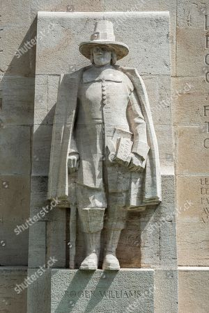 Roger Williams, 1603-1683, father of American Baptism, sculpture at the International Monument of the Reformation, 1909-1917, sculptor Paul Landowski, Geneva, Switzerland