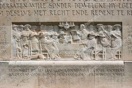 Wilhelm von Nassau, Prince of Orange, Guillaume le Taciturne, 1544-1584, Declaration of Independence of the Netherlands 1581, Relief at the International Monument of the Reformation, 1909-1917, sculptor Paul Landowski, Geneva, Switzerland