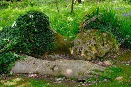 Stock Photo of Sculpture The Mud Maid of Susan Hill, The Lost Gardens of Heligan, near St Austell, Cornwall, England, United Kingdom