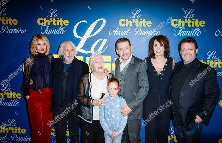 Stock Photo of Laurence Arne, Pierre Richard, Line Renaud, Juliane Lepoureau, Danny Boon, Valerie Bonneton and Guy Lecluyse