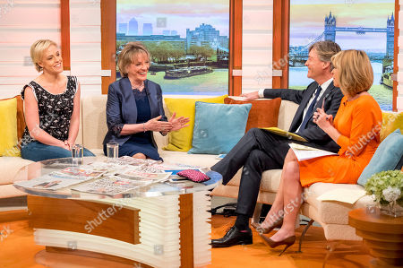 Stock Image of Rebecca Wilcox and Esther Rantzen with Richard Madeley and Kate Garraway