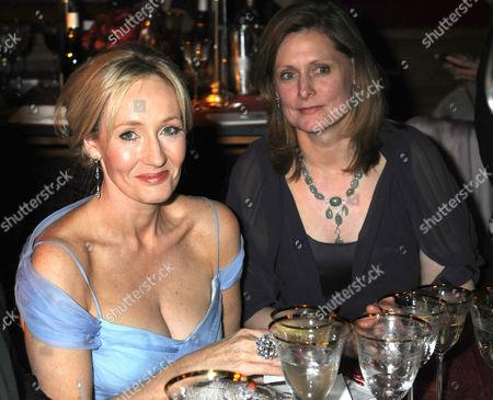 JK Rowling and Sarah Brown