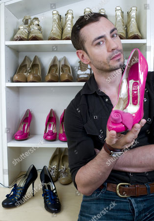 Editorial photo of Shoe designer, Jonathan Kelsey in his office in St George's Mews, London, Britain - 26 May 2009