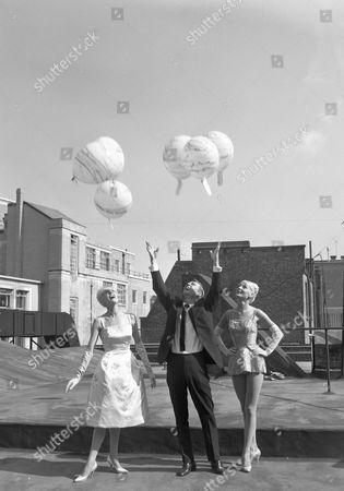 'Sunday Night at the London Palladium'   TV Norman Vaughan, Angela Bracewell and Beat the Clock Girl.