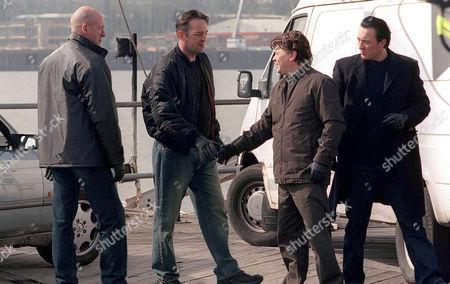 Stock Image of 'Family'   TV   R-L:Martin Kemp(Joey Cutler),Jamie Foreman(Dave Cutler),Francis Magee(Pat Bishop) and Graham Mctavish(Tony Bishop).