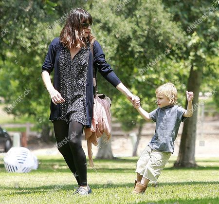 Editorial image of Liv Tyler and son Milo at a park in Los Angeles, America - 07 Jun 2009