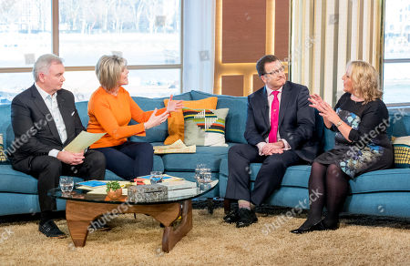 Eamonn Holmes and Ruth Langsford with John Nichol and Clare Muldoon