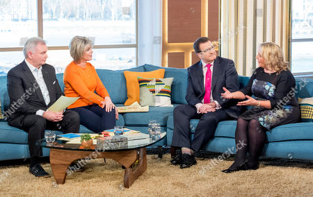 Stock Photo of Eamonn Holmes and Ruth Langsford with John Nichol and Clare Muldoon