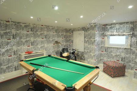 Stock Photo of Pool room